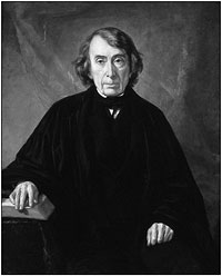 Official portrait of Chief Justice Roger Taney painted by George P. A. Healy.