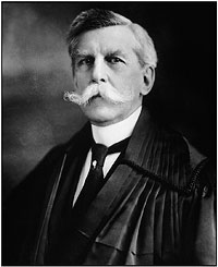 Photograph of Associate Justice Oliver Wendell Holmes by Harris and Ewing.