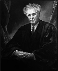 Associate Justice Louis Brandeis's official portrait painted by Eben Cumins.