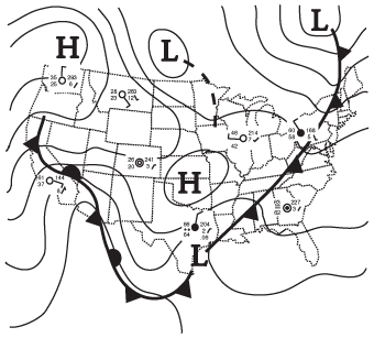 Surface weather map for October 19, 1998.