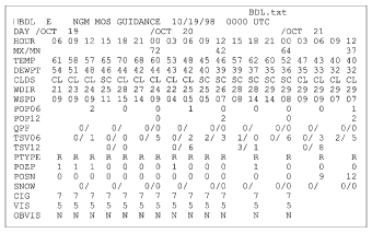 The computer guidance for Hartford, October 19, 1998.
