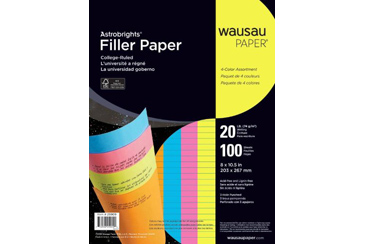 colorful ruled notbook paper