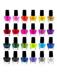 2012 Back to School Fashion, colorful and neon nail polish set