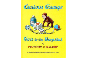 book for child afraid of hospital, Curious George
