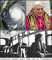 Current Events 2005: Hurricane Katrina, Pope Benedict XVI, Rosa Parks