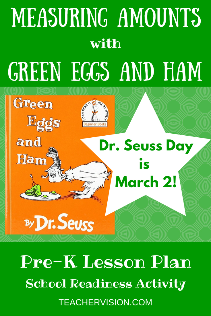 Measurement Lesson for Green Eggs and Ham by Dr. Seuss