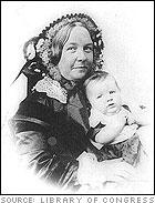 Elizabeth Cady Stanton and her daughter, Harriot - from a daguerreotype 1856