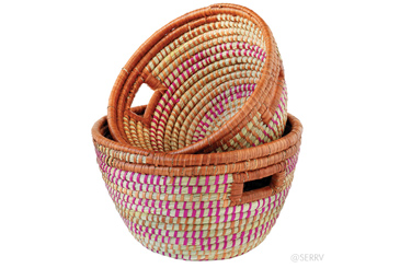gifts that give back, fair trade woven baskets
