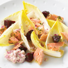 Smoked Trout with Beet, Apple, and Dill Relish photo