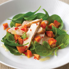 Smoked Chicken Salad with Papaya Fruit Salsa photo
