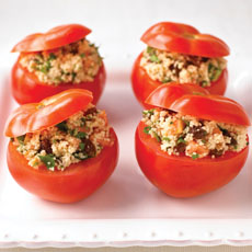 Fresh Tomatoes Stuffed with Fruity Couscous photo