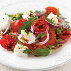 Tomato, Red Onion, and Mozzarella Salad photo
