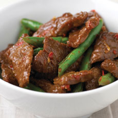 Hot and Sour Beef Stir-fry with Green Beans photo