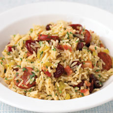 Pilaf with Chorizo, Pancetta, and Cranberries photo