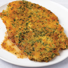 Pork Scallops with Bread Crumb and Parsley Crust photo