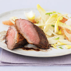 Duck with Pink Grapefruit and Chicory Salad photo