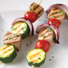 Tuna, Tomato, and Zucchini Skewers photo