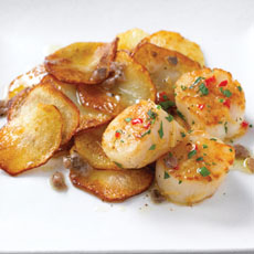 Pan-fried Scallops with Chile, Ginger, and Anchovy Dressing photo