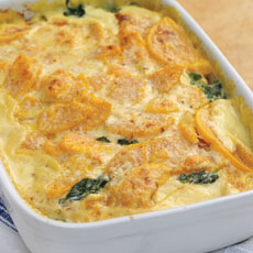 Spinach, Squash, and Horseradish Bake photo
