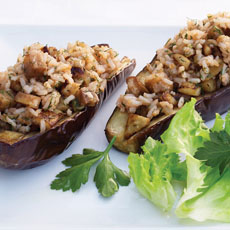 Eggplant Stuffed with Tomato Rice photo