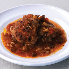 Spanish-style Chicken with Pine Nuts photo
