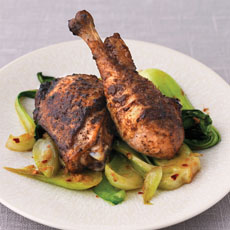 Five-spice and Honey Chicken with Peppered Greens photo