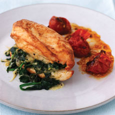 Pan-fried Chicken Stuffed with Spinach and Gruy�re photo