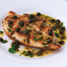 Chicken Cooked in Wine with Capers photo