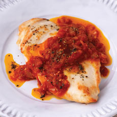 Flattened Chicken with Tomato Sauce photo