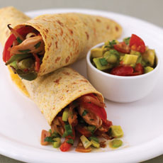Chicken Fajitas with Tomato and Avocado Salsa photo