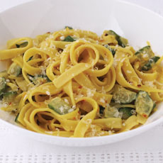 Pasta with Zucchini and Saffron photo