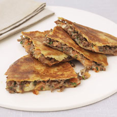 Quesadilla with Spiced Beef and Tomato photo