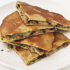 Quesadilla with Mushrooms and Gruy�re Cheese photo
