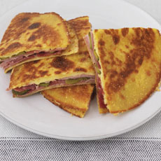 Quesadilla with Ham, Gherkin, and Smoked Cheese photo