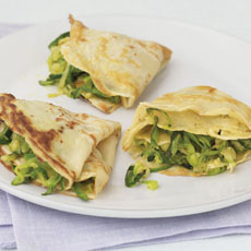 Crêpes with Zucchini and Emmentaler photo