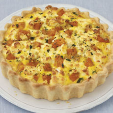 Squash, Thyme, and Goat Cheese Tart photo
