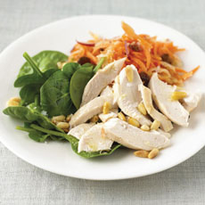 Chicken Salad with Carrot and Apple Relish photo