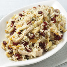 Turkey, Almond, and Cranberry Pilaf photo