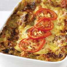 Vegetarian Leek and Mushroom Lasagna photo