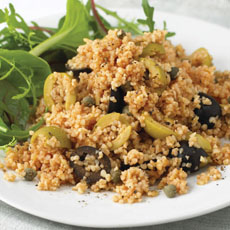 Tomato Bulgur Wheat with Capers and Olives photo