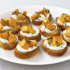 Roast Pumpkin and Ricotta Crostini photo
