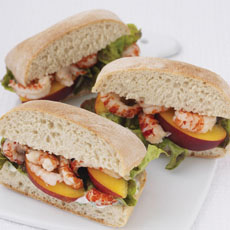 Crayfish and Crisp Lettuce Panini with Herbed Mayonnaise photo