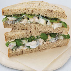 Shrimp, Avocado, and Watercress Sandwich photo