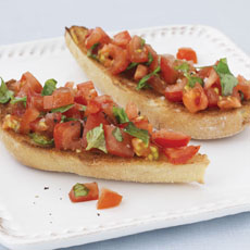 Bruschetta with Tomato and Basil photo