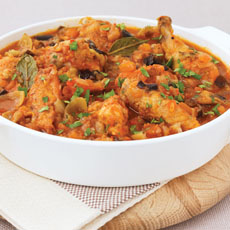 Chicken, Eggplant, and Tomato Tagine photo