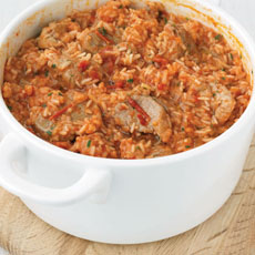Pork with Rice and Tomatoes photo