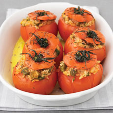 Tomatoes Stuffed with Okra and Rice photo