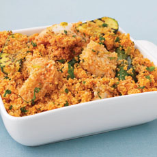 Baby Zucchini with Fish and Couscous photo