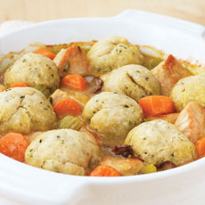 Turkey and Mushroom Stew with Dumplings photo