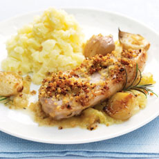 Pork Chops with Apple and Baby Onions photo